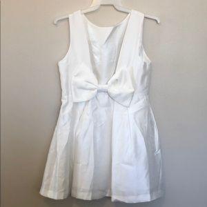 Lulu's white bow back dress